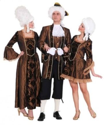 Kleid Barock-Dame braun - 2