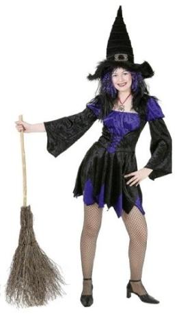 Kleid: Hexe Melissa, lila-schwarz - 1
