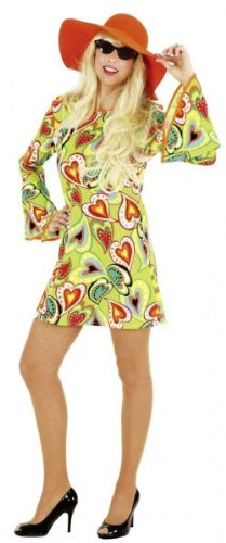 """Kleid: """"Love"""" Hippie-Kleid, kurz, Herzmuster, Größen 34 – 44 - 1"""