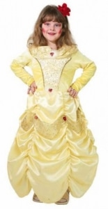 Kleid Prinzessin Beauty gelb - 1