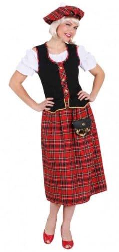 Kleid Schottin mit Barett - 1