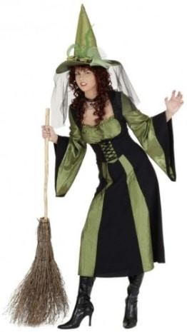 Kleid, schwarz-grün, für die Waldhexe - 1