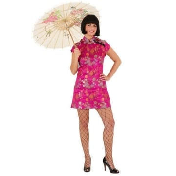 Kleid Sexy Chinesin pink - 1