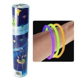 Knicklichter: leuchtende Armbänder inkl. Steckverbinder, 100er-Pack - 1