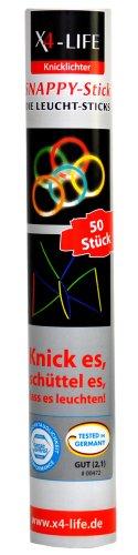 Knicklichter: leuchtende Armbänder inkl. Steckverbinder, 50er-Pack - 1