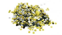"Konfetti: Deko-Konfetti ""Festival"", Metallpunkte oder Sterne, gold, silber, 15 g - 1"
