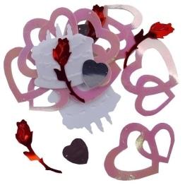 Konfetti: Doppelherz, Rose, Herz, Torte als Hochzeitsdeko - 1