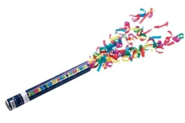 Konfetti-Shooter: Konfettikanone, 40 cm, 6 m Reichweite - 1