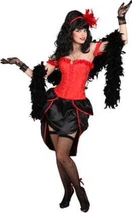 Korsage: Burlesque-Korsage, schwarz - 1