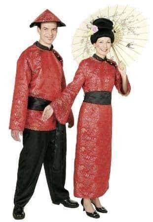 Kostüm Chinese : Oberteil, Hose und Gürtel - 1