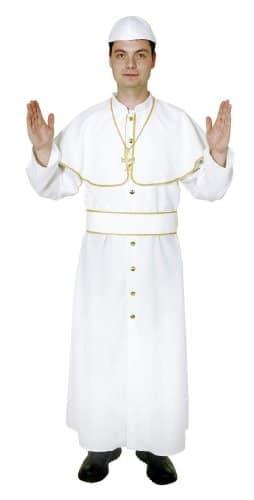 Kostüm: Papst-Gewand mit Mütze, weiß - 1