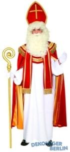Kostüm: Sankt Nikolaus mit Mitra, Umhang, Gewand und Stola - 1
