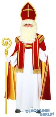 Kostüm: Sankt Nikolaus mit Mitra, Umhang, Gewand und Stola - 3