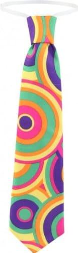 """Krawatte """"Crazy"""", pink-grün, 70er-Jahre-Stil, gebunden - 1"""