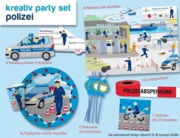 Kreativ-Partyset: Polizei, 51-teilig, Isis Wimmelwelt - 1