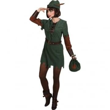 Lady Robin Hood: Kleid, Hut und Gürtel - 1