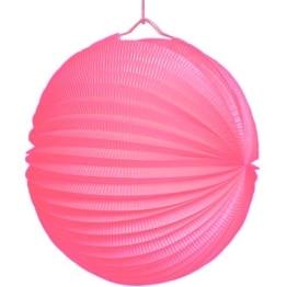 Lampion, 25 cm Durchmesser, pink - 1