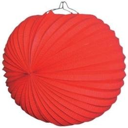 Lampion: 25 cm, rot, mit Kerzenhalter - 1