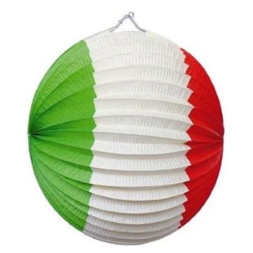 Lampion: Dekoration mit Italien-Farben - 1
