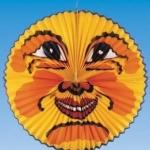 Lampion: Laterne mit Mondgesicht, flach, 55 cm Durchmesser - 1