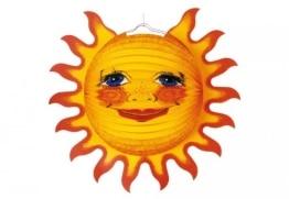 Lampion: Sonne mit Strahlenkranz - 1