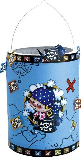 Laternen-Bastelset: lustiges Piratenmotiv, Transparentpapier und Aufkleber, 20 cm - 1
