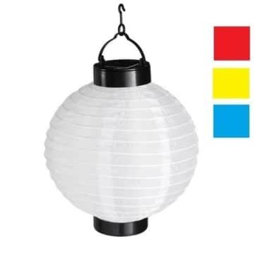 LED-Lampion, gemischte Farben, solarbetrieben, 20 cm Durchmesser - 1