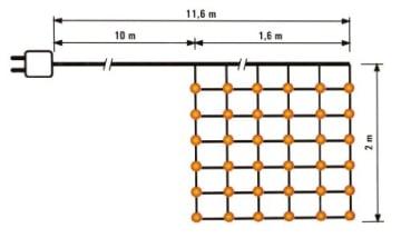 LED-Lichterkette: Lichternetz, für innen und außen, 240 Lämpchen, 160 x 200 cm - 3