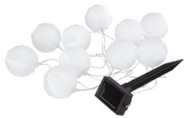 LED-Lichterkette: Party-Lichter mit Farbwechsel, solarbetrieben, 7 m, wetterfest - 1