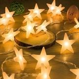Led Lichterkette Sterne 30er Set batterienbetrieben für Weihnachten Deko und Hochzeit warm weiß 1