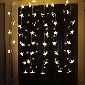 Led Lichterkette Sterne 30er Set batterienbetrieben für Weihnachten Deko und Hochzeit warm weiß 5