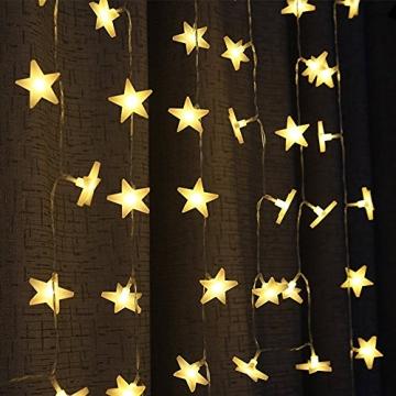 Led Lichterkette Sterne 30er Set batterienbetrieben für Weihnachten Deko und Hochzeit warm weiß 7