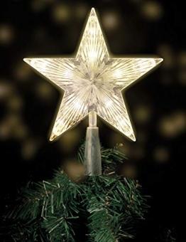 LED Weihnachtsbaumspitze beleuchtete Christbaumspitze in warmweiß 1