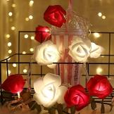Lichterkette aus Rosen Blumen, Valentinstag, Hochzeitsdeko oder Jahrestag 1