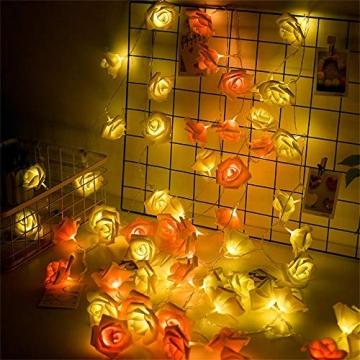 Lichterkette aus Rosen Blumen, Valentinstag, Hochzeitsdeko oder Jahrestag 5