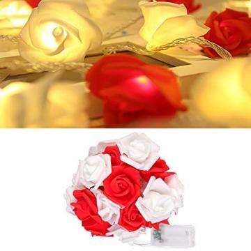 Lichterkette aus Rosen Blumen, Valentinstag, Hochzeitsdeko oder Jahrestag 6