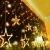 Lichterkette Weihnachten Sterne, Weihnachtsbeleuchtung Sternenvorhang 1