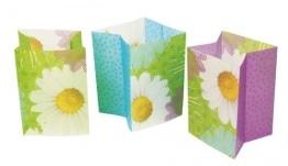 Lichttüten, Sommermotiv Daisy mit Blumenmuster, 16 x 11 x 9 cm, 3er-Pack - 1