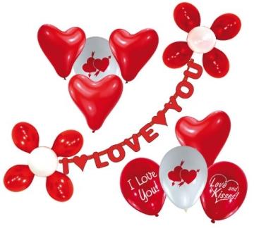 Luftballon-Deko-Set: I Love you - 1