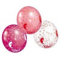 """Luftballon: Dumbo-Ballon, """"It's A Girl"""", 5er-Pack - 1"""