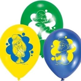"Luftballon, farblich gemischt/sortiert, Motiv ""Schlümpfe, Teil 2"", 6 Stück - 1"
