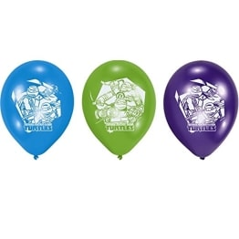 """Luftballon, farblich gemischt/sortiert, Motiv """"Teenage Mutant Ninja Turtles"""", 6 Stück - 1"""