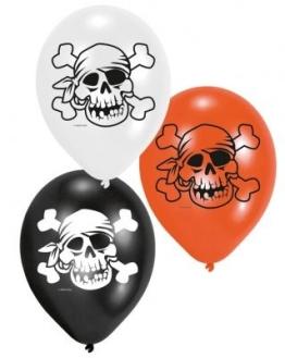 """Luftballon: Luftballons """"Jolly Roger"""" Totenschädel, 6er-Pack - 1"""