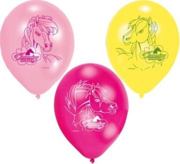 """Luftballon: Luftballons, Motiv """"Pferdehof"""", verschiedene Farben, 70 cm Umfang, 6 Stück - 1"""