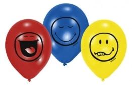 "Luftballon: Luftballons, Motiv ""Smiley Express Yourself"", verschiedene Farben, 70 cm Umfang, 6 Stück - 1"