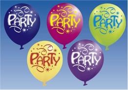 """Luftballon: Luftballons """"Party"""", 70 cm, 6er-Pack - 1"""