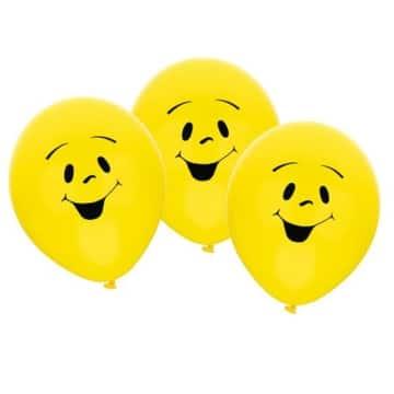 "Luftballon: Luftballons ""Sunny"", Smiley-Gesicht, 70 cm, 6er-Pack - 1"