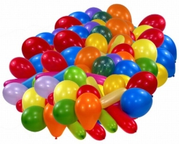 Luftballon, Premium, 90 bis 100 cm Umfang, bunt gemischt, 100er-Pack - 1