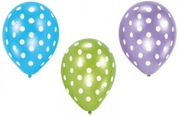 Luftballon, Sommermotiv Daisy, bunt mit Punkten, 6 Stück - 1