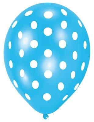 Luftballon, Sommermotiv Daisy, bunt mit Punkten, 6 Stück - 2